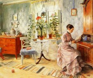 Larsson_Carl_An_Interior_with_a_Woman_Reading