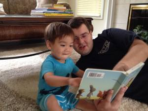 Connor and Brian reading (july 2013)