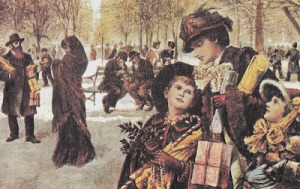 1800s nyc xmas shopping